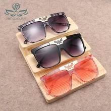 D & T إطار كبير النظارات الشمسية النساء الرجال حملق نمط الرخام نمط النظارات الشمسية الكلاسيكية موضة قطعة واحدة النظارات الشمسية للإناث UV400