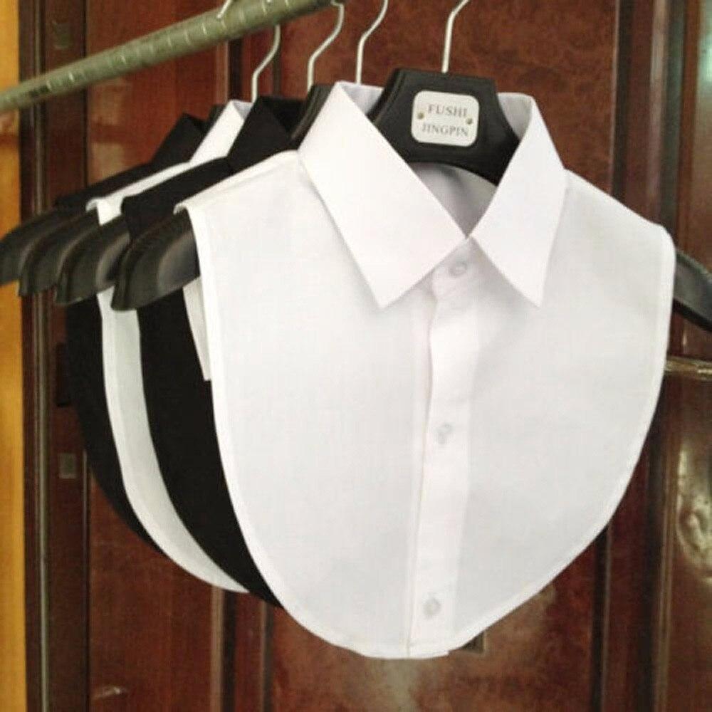 Женская хлопковая кружевная блузка с имитацией воротника, винтажная Съемная блузка с воротником-рубашкой с имитацией воротника с лацканам...