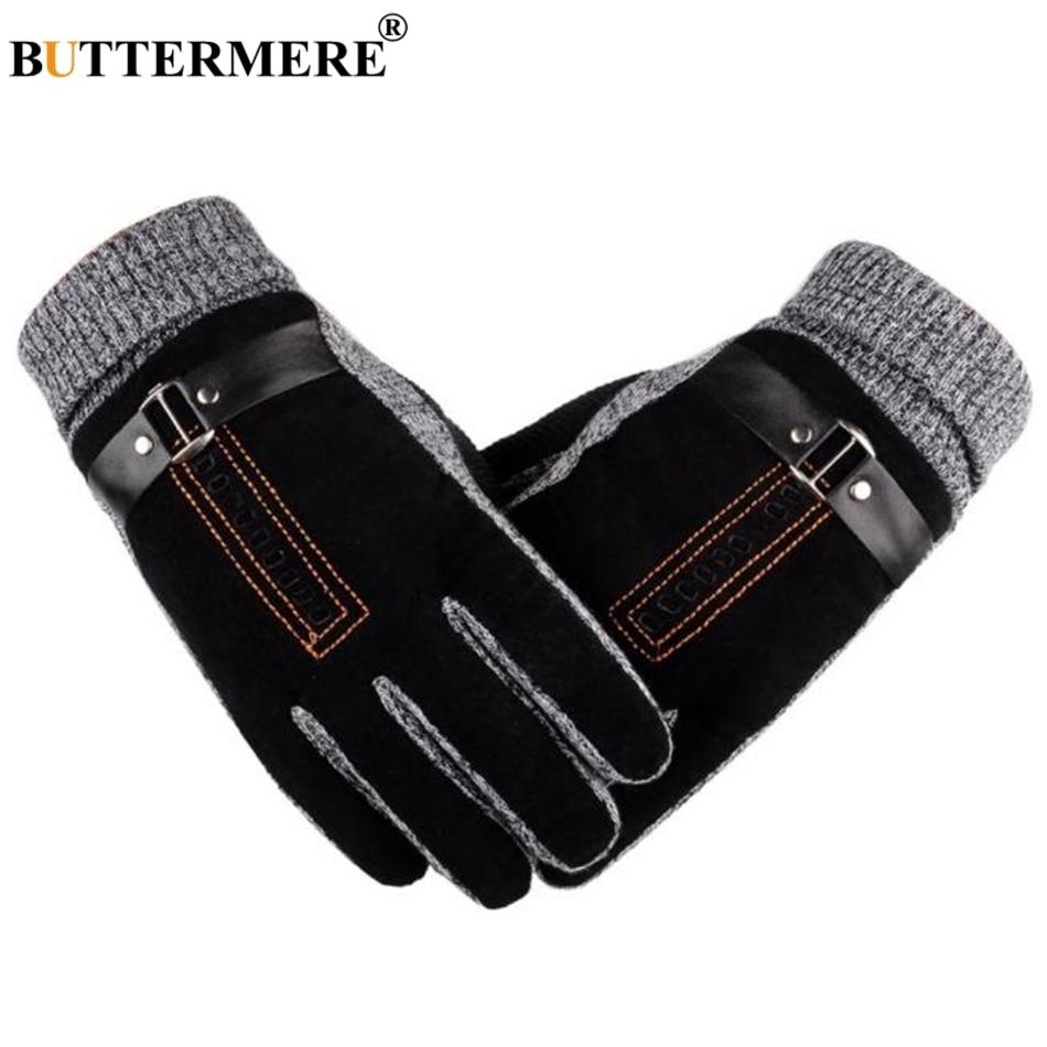 Перчатки BUTTERMERE мужские мотоциклетные перчатки из свиной кожи мужские зимние теплые перчатки из натуральной кожи лыжные мотоциклетные вело...