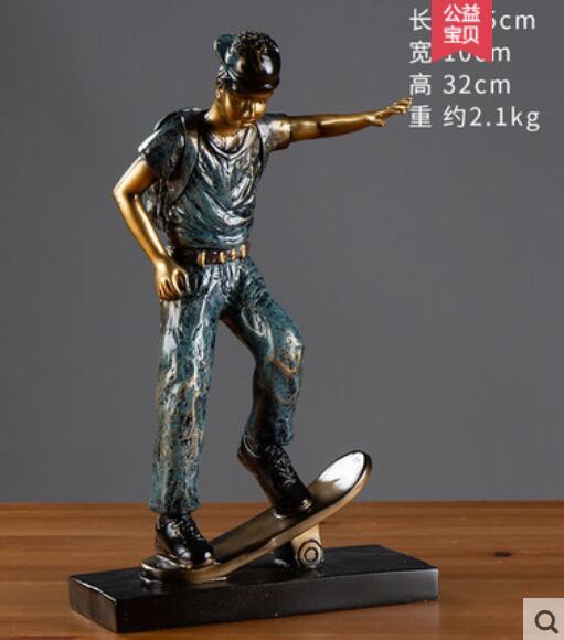 Скандинавский дизайнер работает Ретро Баскетбол и футбол спортивная фигура скульптура Искусство гостиная домашнее мягкое украшение