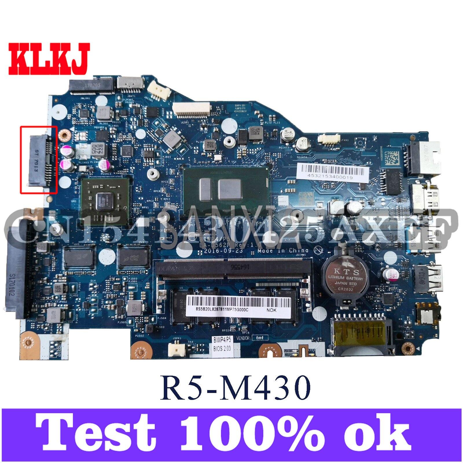 KLKJ LA-D562P Laotop اللوحة لينوفو Ideapad 110-14ISK الأصلي اللوحة الرئيسية 4G-RAM I5-6200U R5-M430