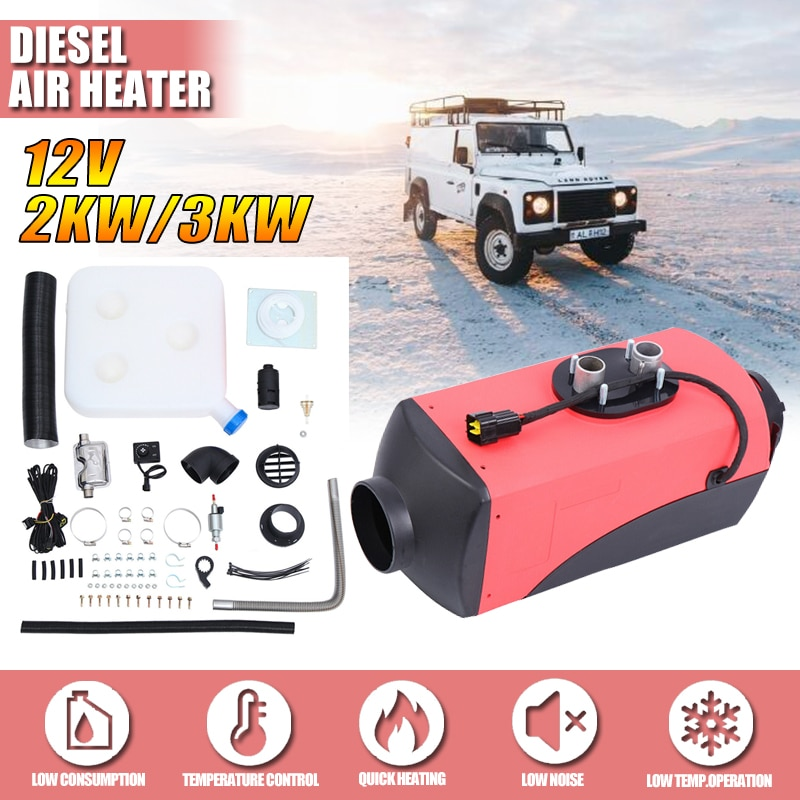 12V 3KW Car Diesels Air Parking Heater Car Heater LCD Remote Control Monitor Switch for Motorhome Trucks Bus Trailer Heater 12v 24v lcd monitor switch remote controller accessories for car track diesels air heater parking heater car accessories