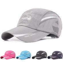 Quick Dry Mesh Baseball Hat Adjustable Breathable Women Men Cap Unisex Summer Sunscreen Hats Outdoor Sport Running Fishing