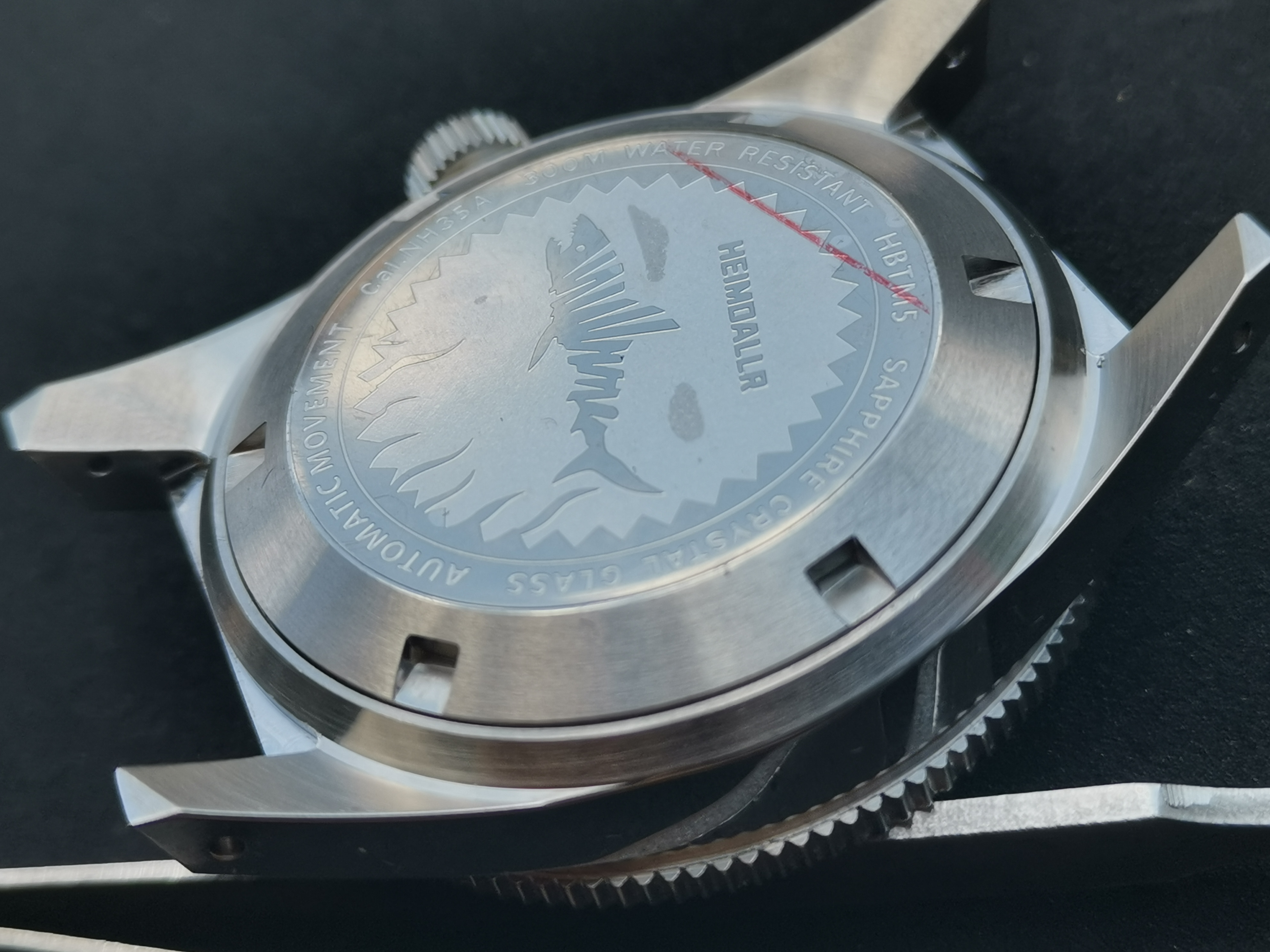 For Seiko 62MAS Watch Case Solid Sapphire Ceramic Bezel Diver Watch 300M Water Resistance Case For NH35 NH36A Automatic Movement enlarge