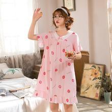 Artificial cotton Short sleeve Style Women Sleepwear Suit Home Women Female Sleepwear Sleep Lounge S