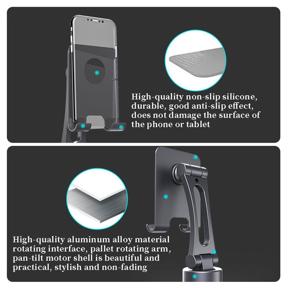 Famende Gimbal 360 Degree Intelligent Real Time Tracking Pan Tilt Automatic Tripod Stabilizer For Phone For IOS Android Xiaomi enlarge