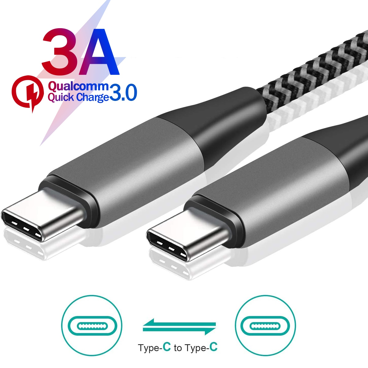 USB C TO USB C Cable USB PD 60W For Samsung S 20 10 Note10 Note9 For Fast Charging USB C Wire for Ma
