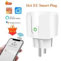 Prise Wifi intelligente ue 16a  pour maison connectee Tuya  application Smartlife  moniteur dalimentation  minuterie  fonctionne avec Alexa et Google Home Assistant