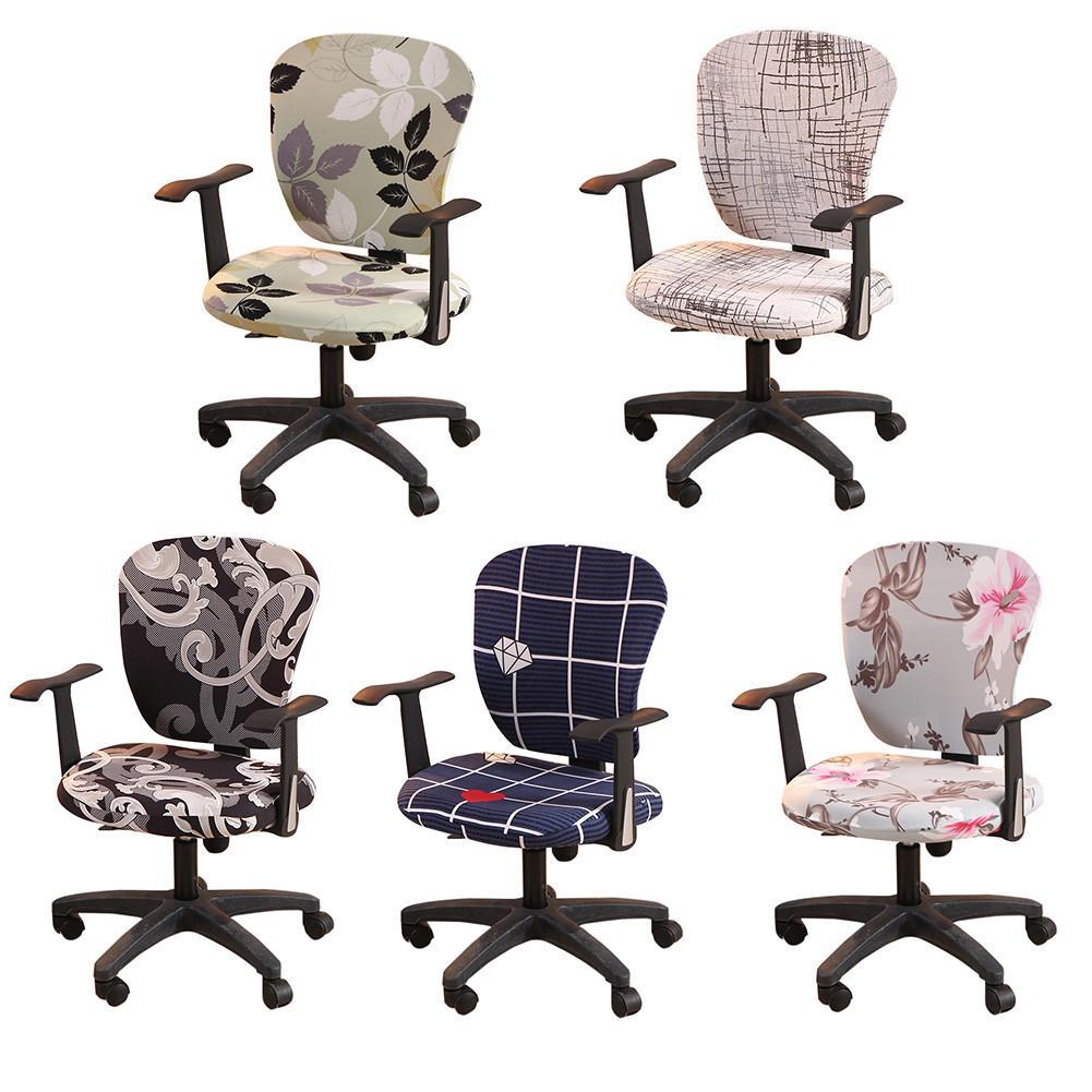 Funda protectora para silla de oficina, cobertor elástico dividido para ordenador, Escritorio...