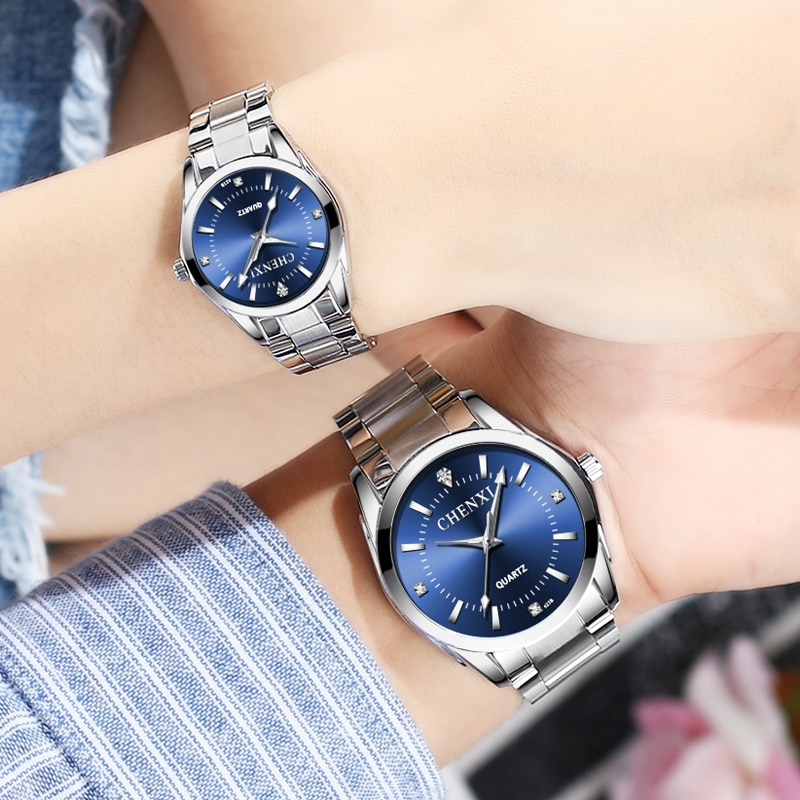 Paired Watches For Two Lovers Stainless Steel Fashion Ladies Watch Luxury Brand Waterproof Quartz Men's Wrist Watch Dropshipping