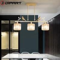 modern chandelier sputnik lamps semi embedded ceiling lamp brushed antique gold lighting crystal nordic home decoration
