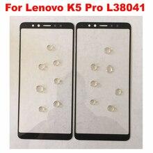 Negro/Blanco 6,0 pulgadas Lenovo K5 Pro L38041 frente Reparación de vidrio para lente exterior de la pantalla táctil de vidrio exterior