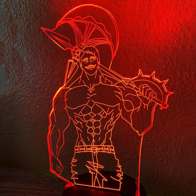 Acrylic Night Light Lamp Anime The Seven Deadly Sins Escanor Light for Bed Room Decor Nightlight Kids Table Lamp Escanor Gift