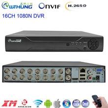 1080N DVR Yeni H.265 16CH ile Benzer DaHua paneli 6 in 1 Hibrid Video Kaydedici XMEYE HDMI 1080P AHD Tvi Cvi Analog Ip Kamera