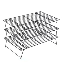 1 set black carbon steel cake cold stand 3 layers shelf bread cookie cooling rack baking accessories home bakery tools 40259cm