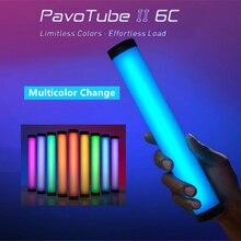 Nanlite PavoTube II 6C светодиодный RGB мягкий светильник трубки с Портативный ручной фотографии светильник ing Stick CCT Режим фото видео мягкая светильник