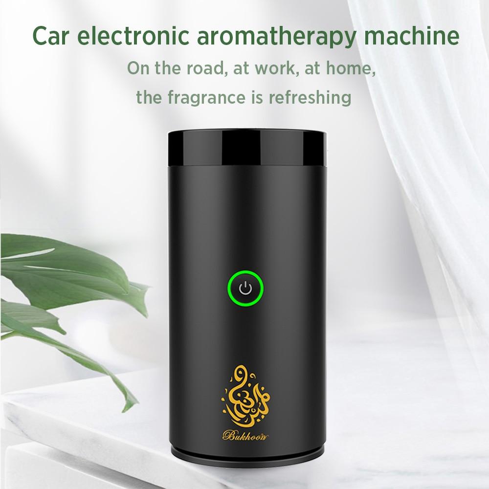 Arabian Aroma Diffuser Arab USB Mini Car Incense Burner Electronic Aromatherapy Device Arabic Bukhoor Incense Holder Home Decor