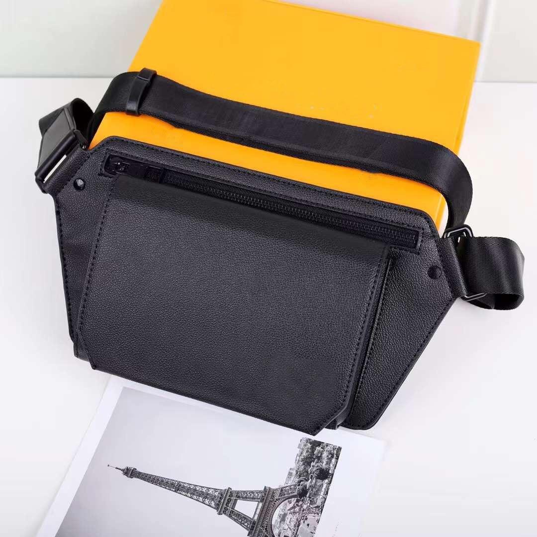Men's casual belt bag leather belt bag shoulder messenger bag sports running belt bag chest bag