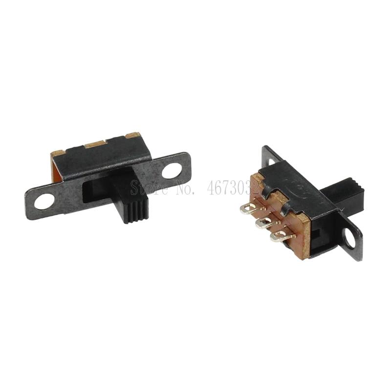 500 pces ss12f15 ss12f15vg4 interruptor de toggle 3pin 1p2t slide switch lidar com alta 4mm 1p2t alavanca tipo interruptor ss12f15g4 3pin