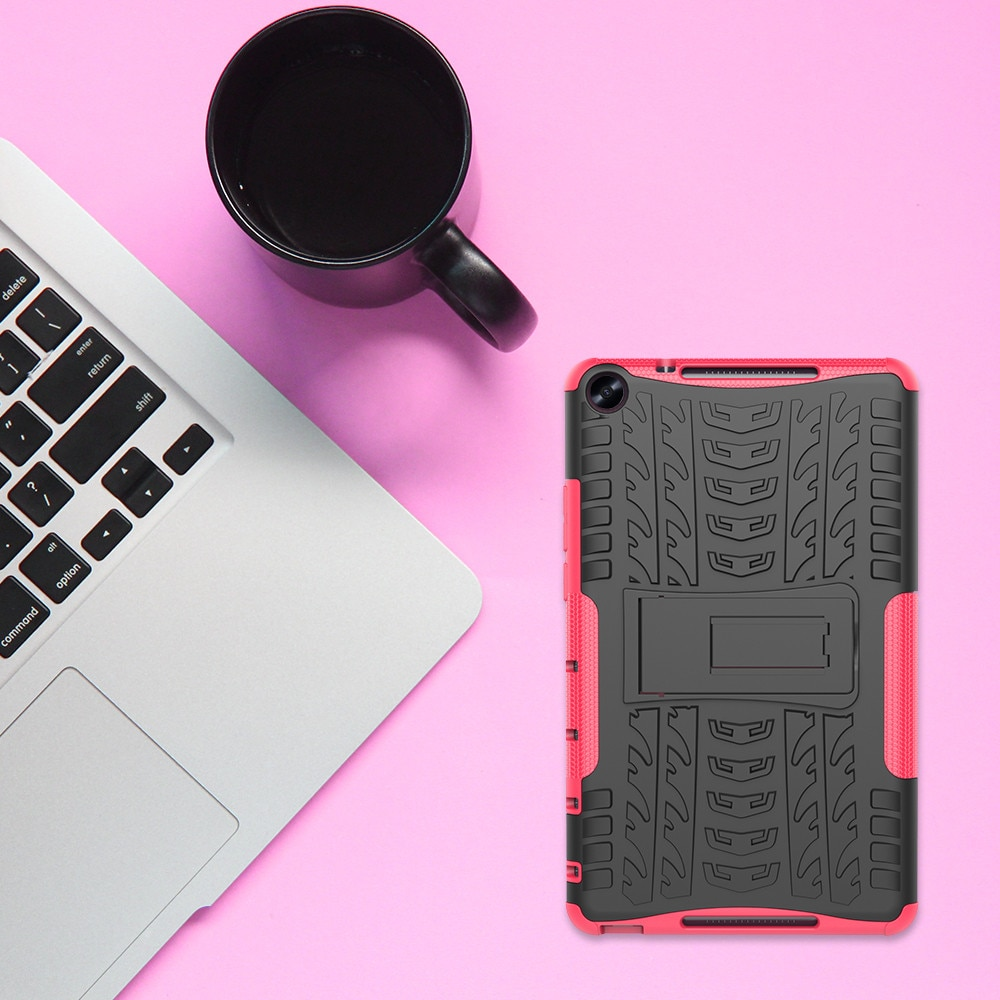 Para HUAWEI Mediapad M5 Lite 8,0 pulgadas híbrido resistente de goma dura PC soporte funda elegante mecánica costura artesanal estilo funda