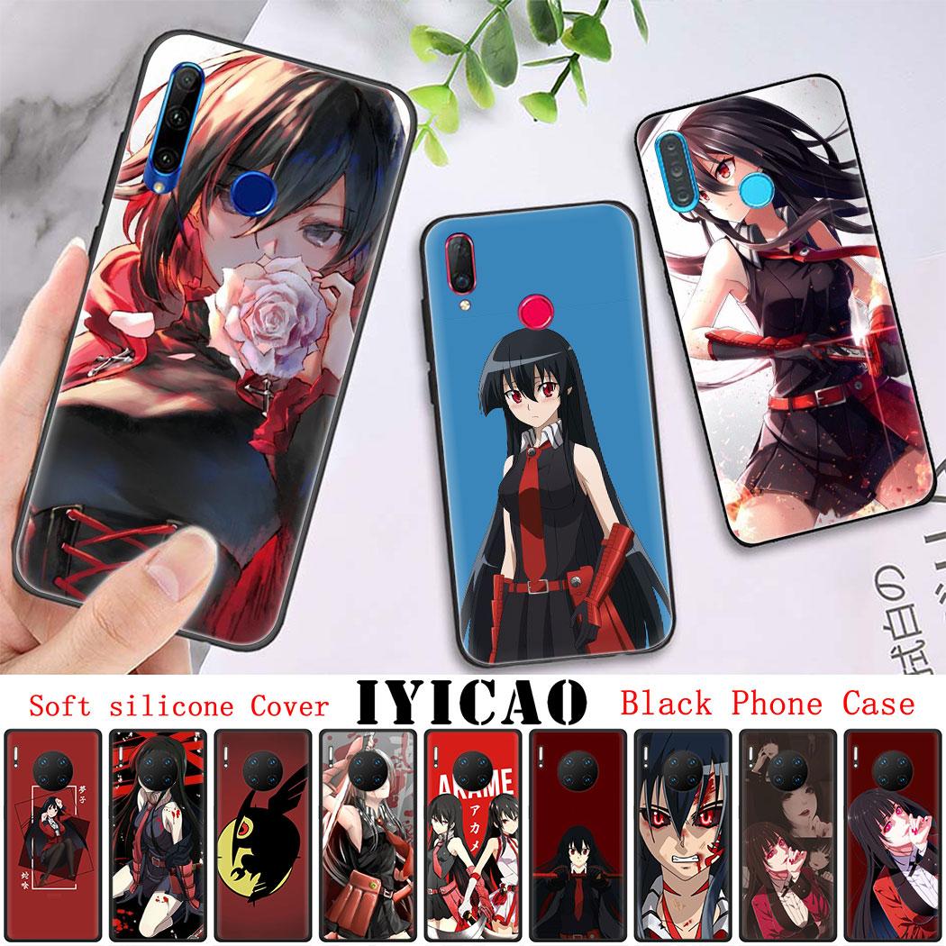Мягкий силиконовый чехол для Huawei Honor 8 9 10 Lite 9X 20 Pro 7X 8A 8X 8C 20S Note 10 20 черный чехол для телефона Akame Ga Kill Anime