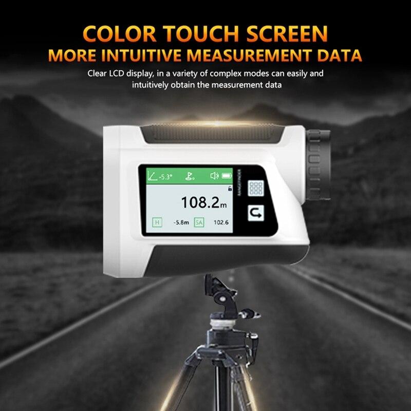 Sport Golf Rangefinder Hunting Range Finder Rechargeable Press Screen Distance Measuring with Flag-Lock 600M