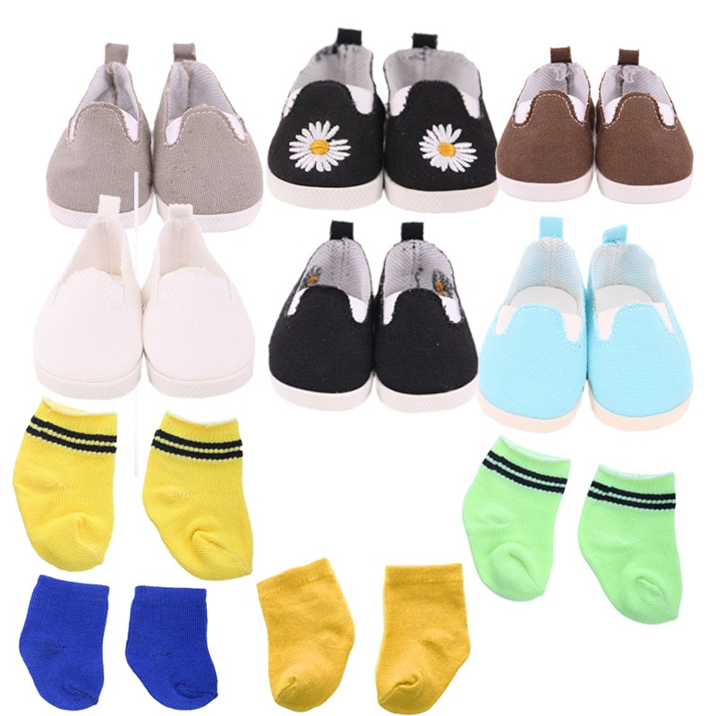 New Fashion Baby Doll Shoes Lovely 43cm Doll Baby New Born And 18 Inch American Doll Free Shipping