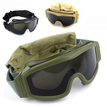 Black Tan Green Tactical Goggles Military Shooting Sunglasses 3 Lens Army Airsoft Paintball Motorcyc