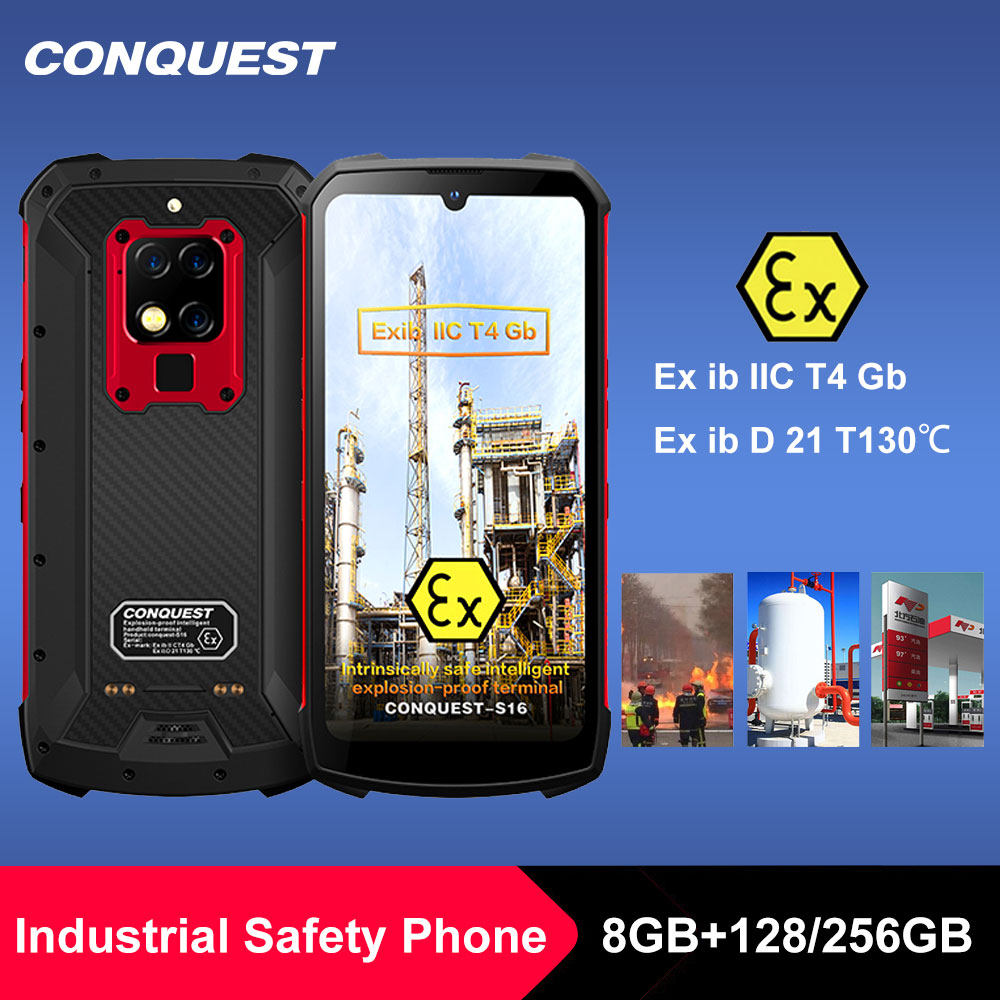 S16 ATEX Explosion-proof IP68 Smartphone Helio P90 48MP Triple Cameras Zello PTT walkie talkie Intrinsically safe mobile phone