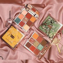 HOJO 9 couleurs fard à paupières maquillage palette terre couleur durable Anti-taches ombre à paupières brillance diamant Pigment cosmétiques cadeau TSLM2