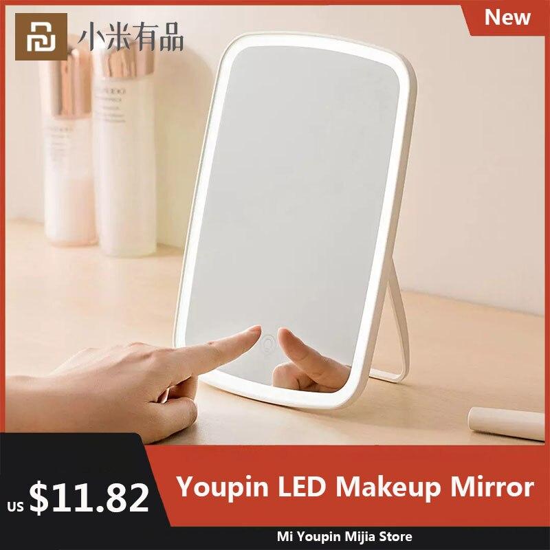 Youpin Jordan Judy LED Makeup Mirror Desktop Natural Fill Light Touch Control Adjustable Angle HD Dressing Table Mirror 2021 New