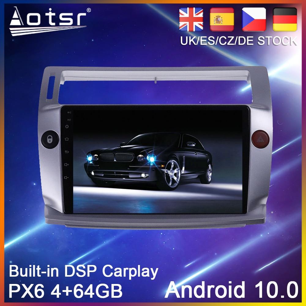 Android 10 GPS Navigation Für Citroen C4 LA LC C-Triomphe C-Quatre 2004-2014 PX6 Auto DVD Radio Stereo Multimedia Player Steuergerät