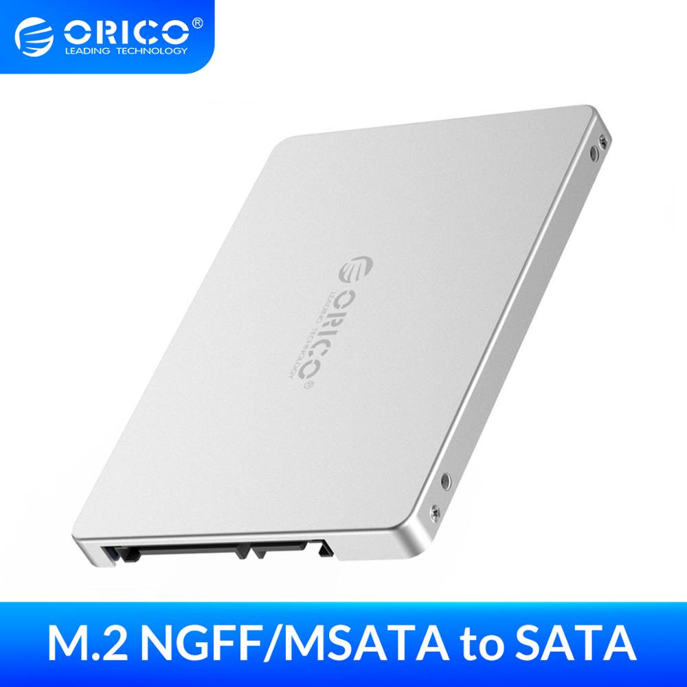 Адаптер ORICO для Samsung, двойной M.2 NGFF MSATA к SATA 3,0 SSD к 2,5 дюймов, конвертер, поддержка карт SSD типа 2230 2242 2260 2280