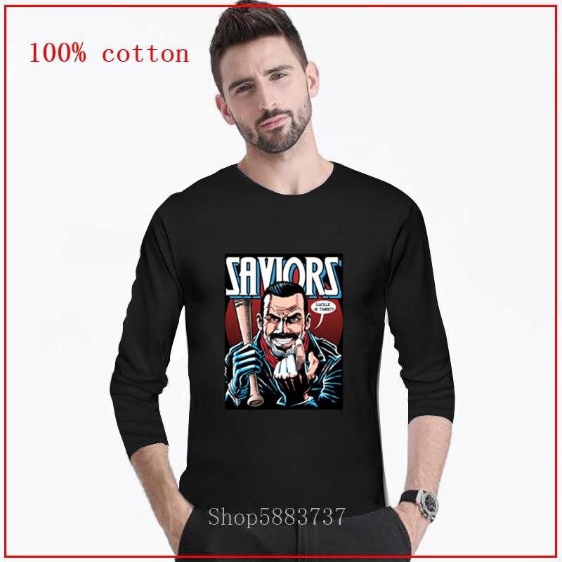 Saviors Twd Comics lange T Shirt Negan Lucille Twd Walking Dead T C23 Cartoon T Hemd Männer Unisex Neue Mode t-shirt Lose Größe