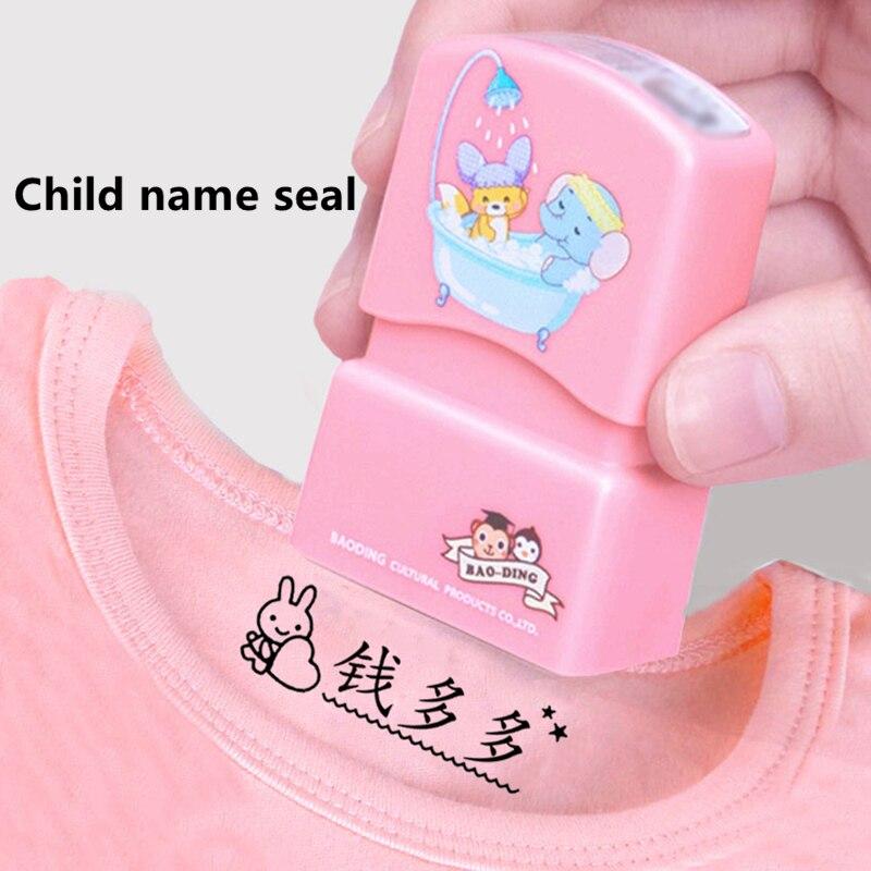2020 custom-made Baby Name Stempel DIY für kinder Name Dichtung student kleidung kapitel Nicht Einfach Zu Verblassen Sicherheit name Stempel Aufkleber