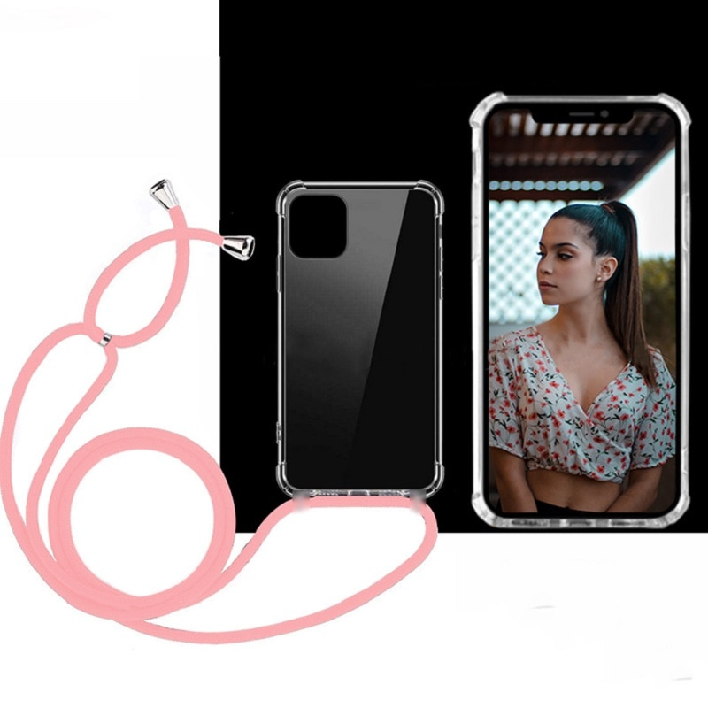 Плечевой ремень для samsung Galaxy a50 a70 S10 E 5g S9 S8 S11 Plus Note 9 10 чехол ремешок для шеи шнур прозрачный чехол