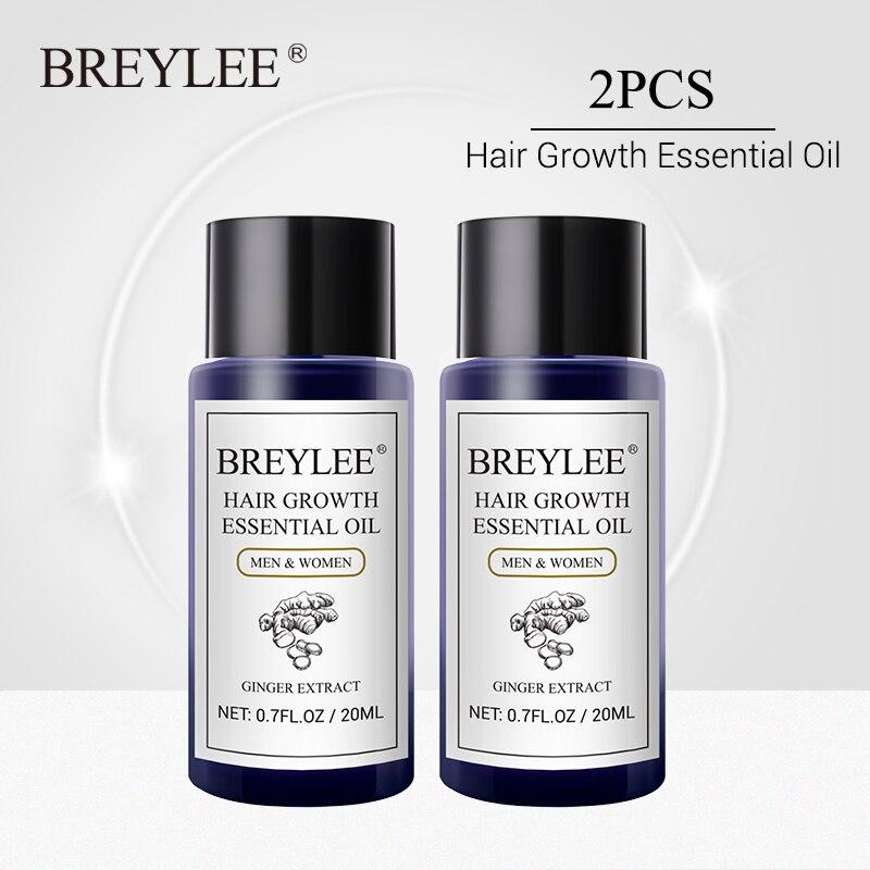 O óleo essencial do crescimento do cabelo de breylee 2 pces impede a calvície anti-perda de cabelo soro rápido poderoso líquido rebrota o aumento do cabelo