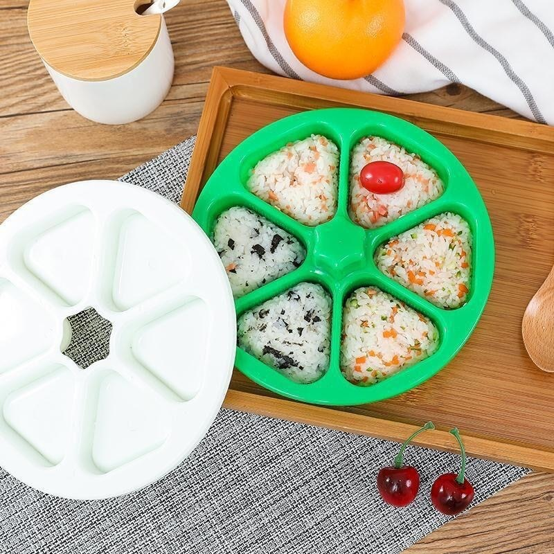 aliexpress.com - 6 Holes DIY Sushi Mold Onigiri Rice Ball Press Maker Triangular Sushi Mould Home  Kitchen Bento Maker Tools