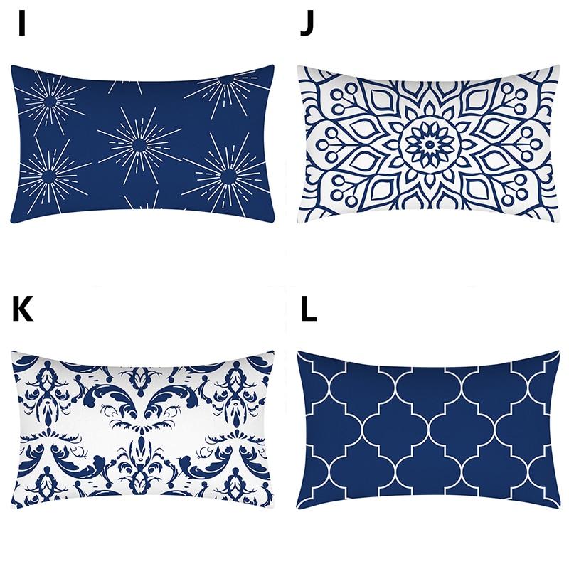 30*50cm Geometric Decorative Pillowcases Polyester Throw Pillow Case Striped Rectangle Pillowcase Home Decor