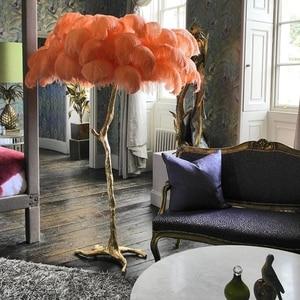 Nordic Luxury Feather Floor Lamps for Living Room Creative Floor Light Office Decorative Standing Lamp Indoor Bedroom Home Decor