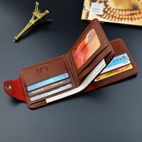 brand leather men wallets solid sample style magnetic snap purse man card horder famous quality male wallet lychee pattern