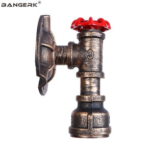 Loft Decor Rust Iron Wall Light LED Retro Water Pipe Wall Lamp Sconces Industrial Luminaire Aisle Bedside Bar Indoor Lighting
