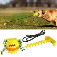 outdoor dog rope ball pull chew toy interactive tug of war game for aggressive chewer dog training teething indestructible rope