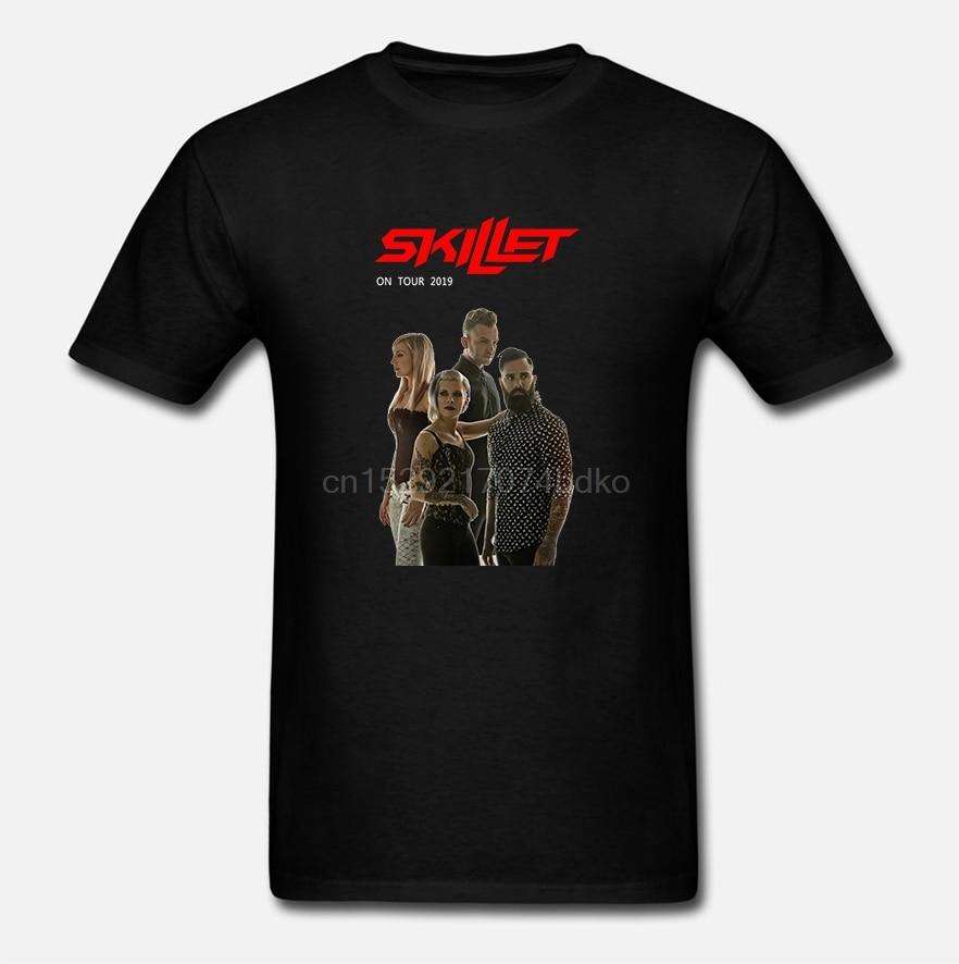 Nueva Skillet On Tour 2019 camiseta negra S-5XL hombre mujer