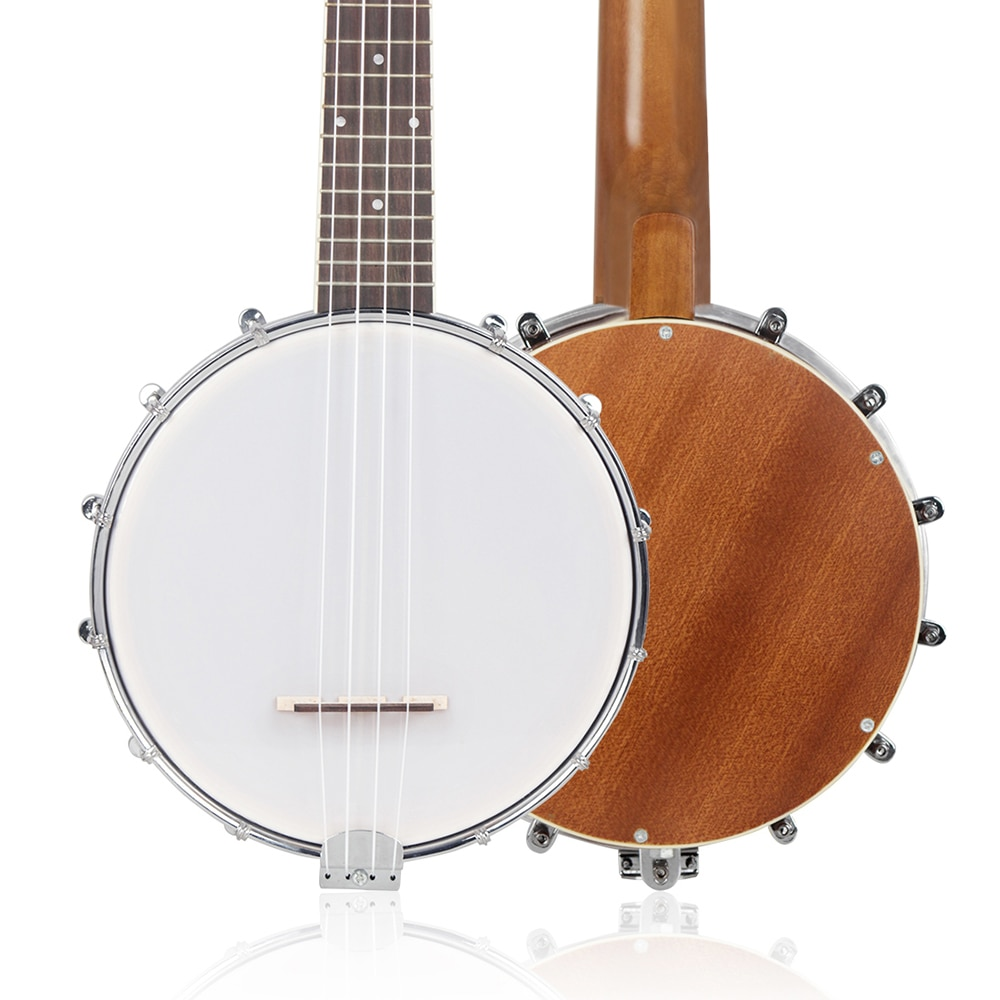 4 Strings Banjo Ukulele Concert Sapele 4 Strings Banjolele Beginners Musical Instrument Gift Rosewood Fingerboard Banjo With Bag enlarge