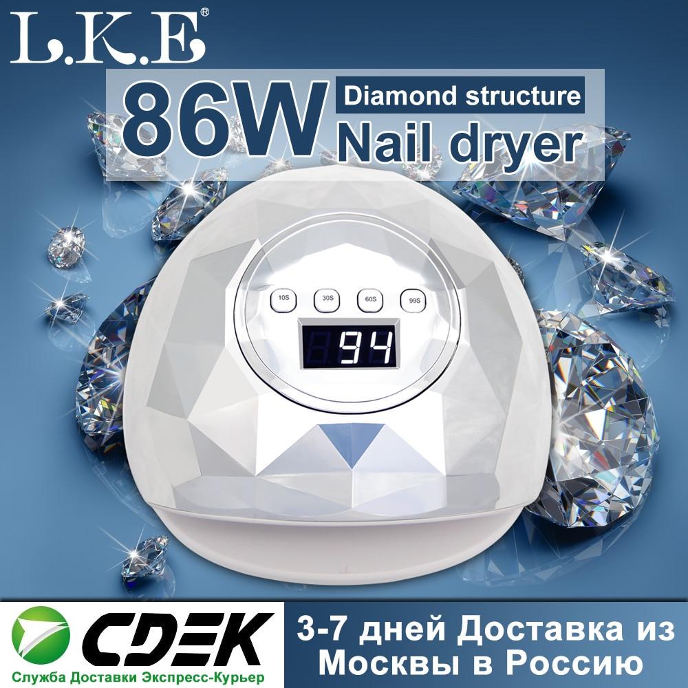 Secador de uñas F6 86W 39 Uds LED lámpara de uñas LED UV para manicura uñas lámparas para curado UV herramientas para uñas de Gel con Sensor LCD Display