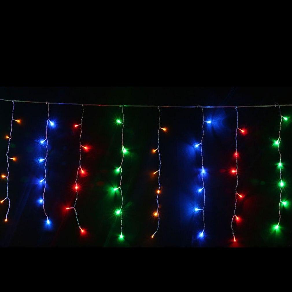 Luces de cuerda ICOCO, decoración navideña para exteriores, 4m Droop 0,4-0,6 m, carámbano de cortina, cadena de luces led, EU 220V, jardín, Navidad, boda