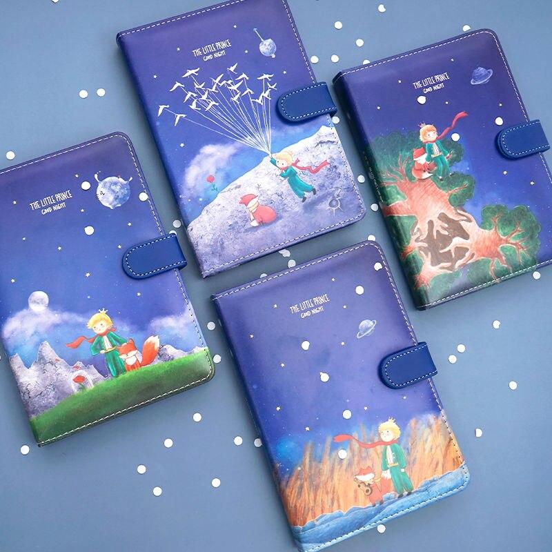 Фото - Маленький принц, раскраска, иллюстрация, магнитная пряжка, искусственная кожа, ручная роспись, милый мультяшный блокнот, блокнот, анти-давле... блокнот маленький принц синий арте