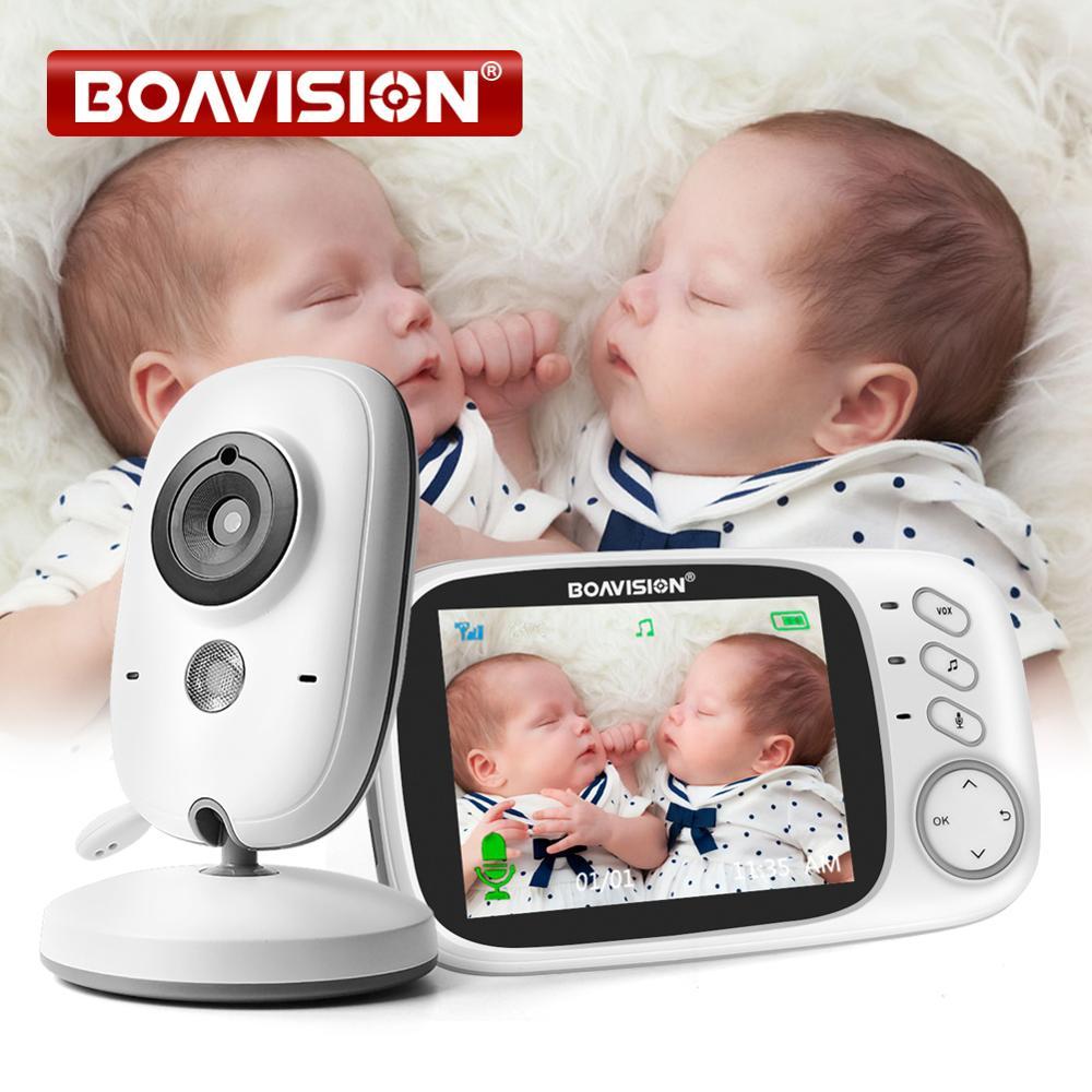 VB603-آلة لمراقبة الأطفال 3.2 بوصة 2.4G لاسلكية, كاميرا مراقبة جليسة الأطفال رؤية ليلية كاملة بشاشة LCD ثنائية الصوت
