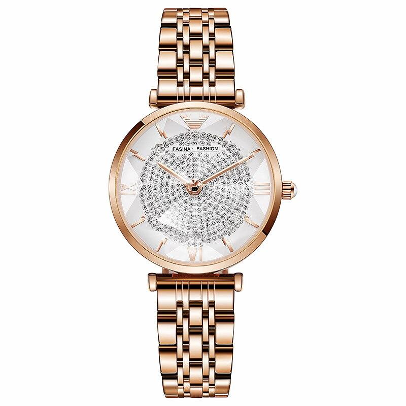 Women Watch 5pcs Set Women Bracelet Watches Casual Ladies Dress Wristwatch Earrings Necklace Suit Female Quartz Clock Gift Box